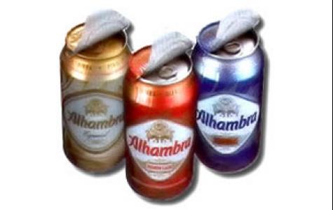 Ağızlık koruyuculu kutu bira: Alhambra