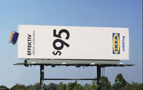fiyat etiketi reklam panosu – Ikea