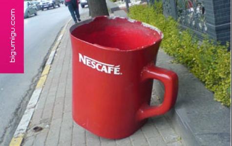 Nescafe çöp kutuları istanbul'daydı…