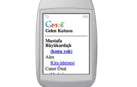 Gmail artık cep telefonunuzda!