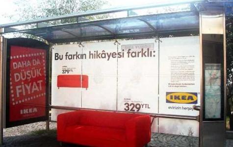 IKEA'dan otobüs duraklarına kanepe