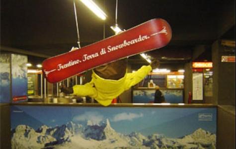 metro'da snowboard keyfi