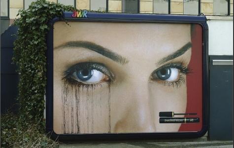 max factor – maskarası akan billboard