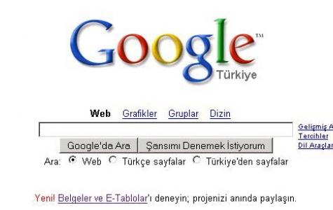 Google bir değişik görünüyor gözüme