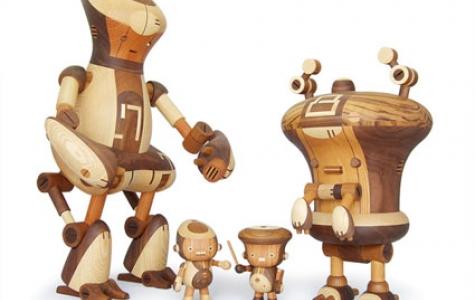 Take-g Wooden Robot Toys