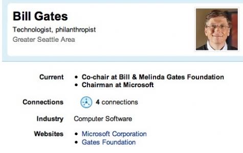 Bill Gates LinkedIn'de