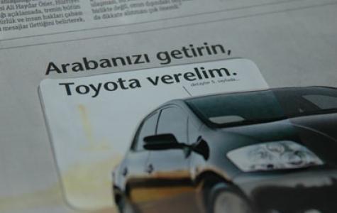 Toyota'nın Etiketli İlanı
