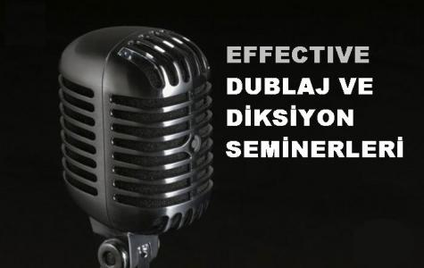 EFFECTIVE dublaj ve diksiyon seminerleri