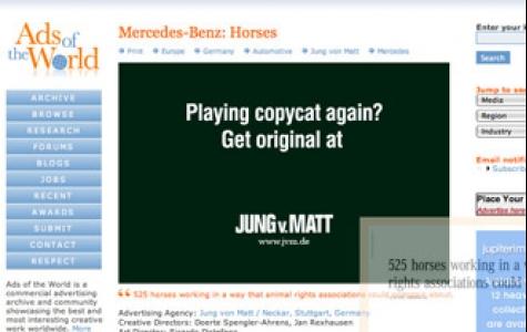 Jung von Matt'tan siteye özel reklam uygulaması