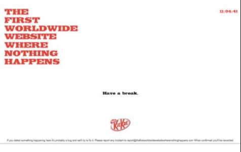 """KitKat'ın """"ara verme"""" konseptli web sitesi"""