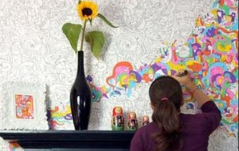 kendin boya duvar kağıdı