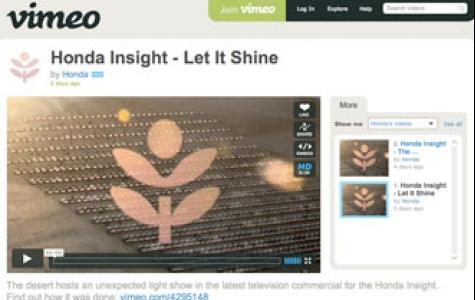 Honda Insight, Vimeo'da ışıldadı!