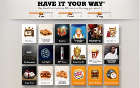 burger king'in -sen nasıl istersen- kurumsal web sitesi