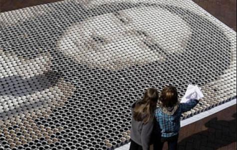 yeni trend: binlerce şişe – bardaktan resim yapmaca