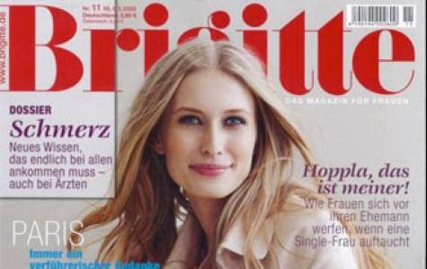 Alman kadın dergisi Brigitte artık resimlerde pro model kull