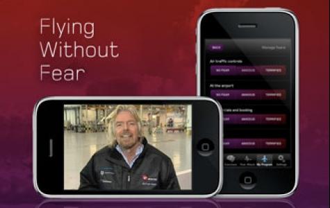 uçak korkusunu atlatmak için Virgin Atlantic'den iphone uygulamas