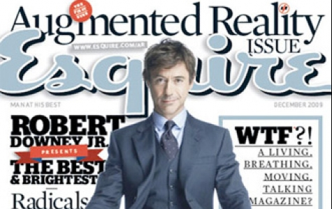 Robert Downey Jr, Esquire dergisinin Augmented Reality kapak&#160