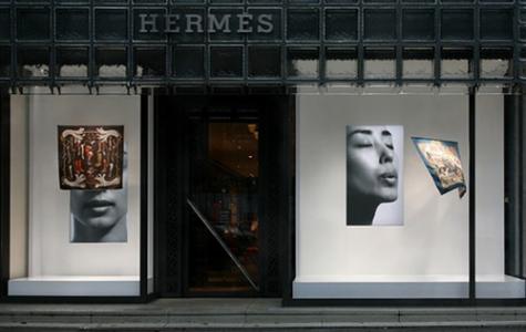 Fransız Hermès Moda Evinin Vitrin Düzenlemesi