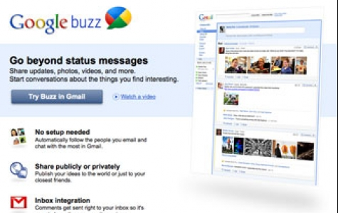 FriendFeed'e yeni rakip Google Buzz