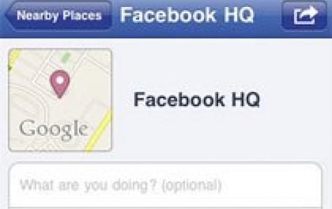 Foursquare uygulamasına karşı Facebook'tan 'Places'!