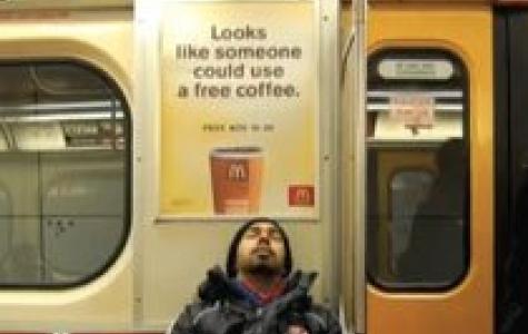 McDonald's, uyuyan güzelli bedava kahve kampanyası