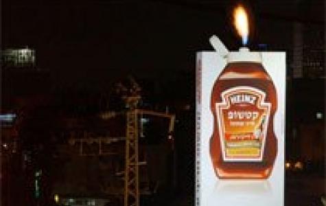 Heinz'dan yanan acılı baharatlı ketçap billboardu