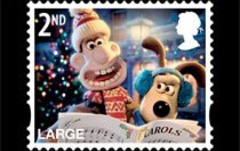 Wallace ve Gromit yılbaşı pul koleksiyonu