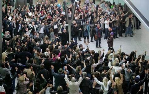 T Mobile'dan yeni/yine bir flashmob!