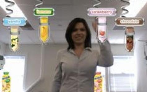 Nesquik Fabrikası: webcam'li şişe doldurma oyunu (augmented reality)