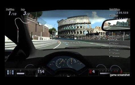 Gran Turismo 5 – Google Street View Banner