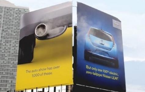 Nissan Leaf – Dumanlı Billboard