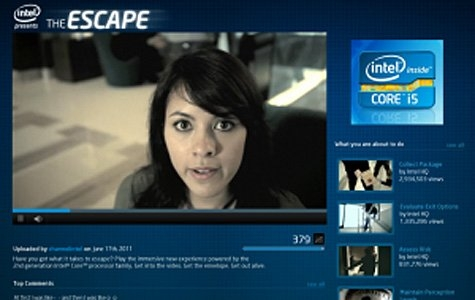 Intel Escape: YouTube'da kovalamaca oyunu