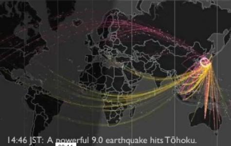 Japonya Depremi Sırasında atılan Twitter mesajları