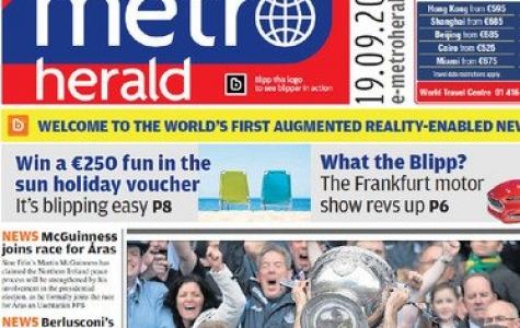 Metro Herald, ilk arttırılmış gerçeklik ile donatılan gazete oldu