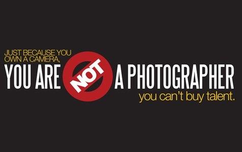 Kendine gel. Sen bir fotoğrafçı değilsin!