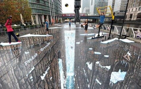 Reebok&Crossfit en büyük 3D resmiyle sokaklarda