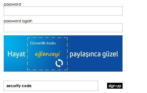 Turkcell'den Captcha Reklamı