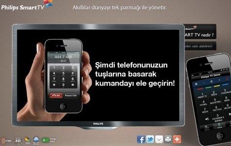 Philips Smart TV: IVR ile Akıllı Telefon Demosu