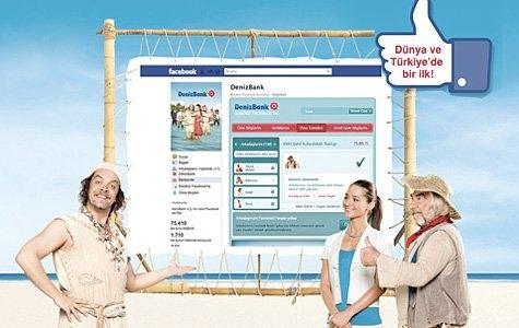 Denizbank Facebook Bankacılığı