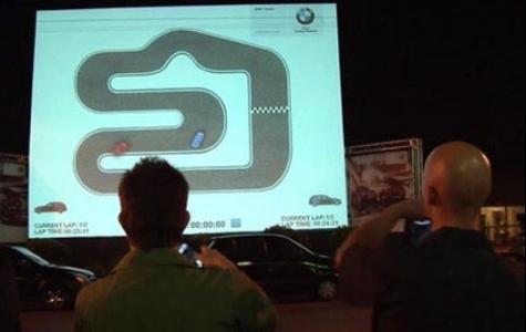 BMW: İnteraktif Video Mapping Oto Yarışı