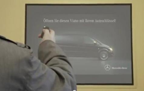 Mercedes-Benz Viano Araba Anahtarı ile İnteraktif Reklam Uygulaması