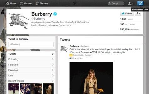Burberry – Twitter'da Animated GIF Moda Şovu