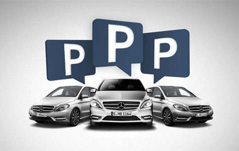 Uygun Park Yerlerini Tweet eden Mercedes Filosu – Tweet Fleet