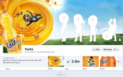 Fanta'dan İlk Facebook Timeline Oyunu