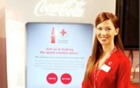 Coca-Cola otomatlarında bağış opsiyonu