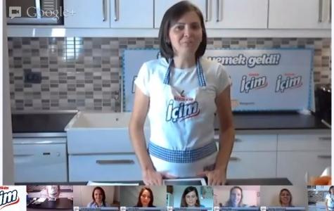 Ülker İçim ile Google+ Hangout üzerinden canlı yemek programı!