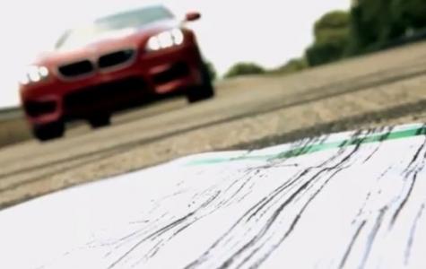 BMW M6'dan Hayranlarına Lastik İzli Kartpostal