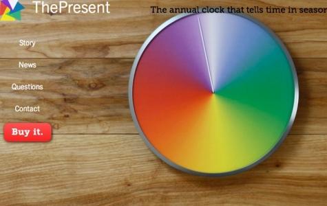 Bir turunu bir yılda tamamlayan duvar saati: The Present Clock