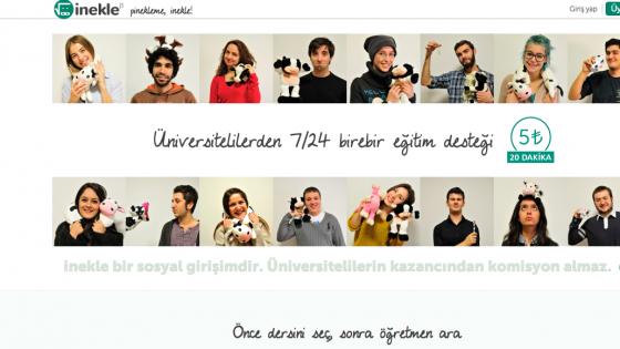 Üniversitelilerin Kendinden Küçüklere 7/24 Özel Ders Verebildiği Sosyal Girişim Platformu: İnekle
