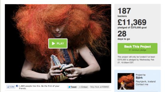 Björk, Çocuklar İçin Geliştirdiği Eğitim Programına Kickstarter'da Fon Arıyor.